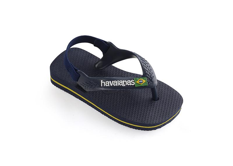 HAVAIANAS Kids Brazil Logo  Navy Single