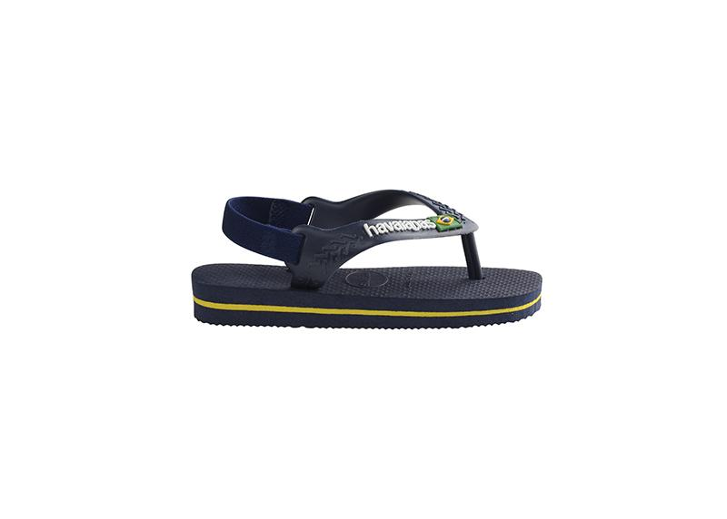 HAVAIANAS Kids Brazil Logo Navy Single Flat