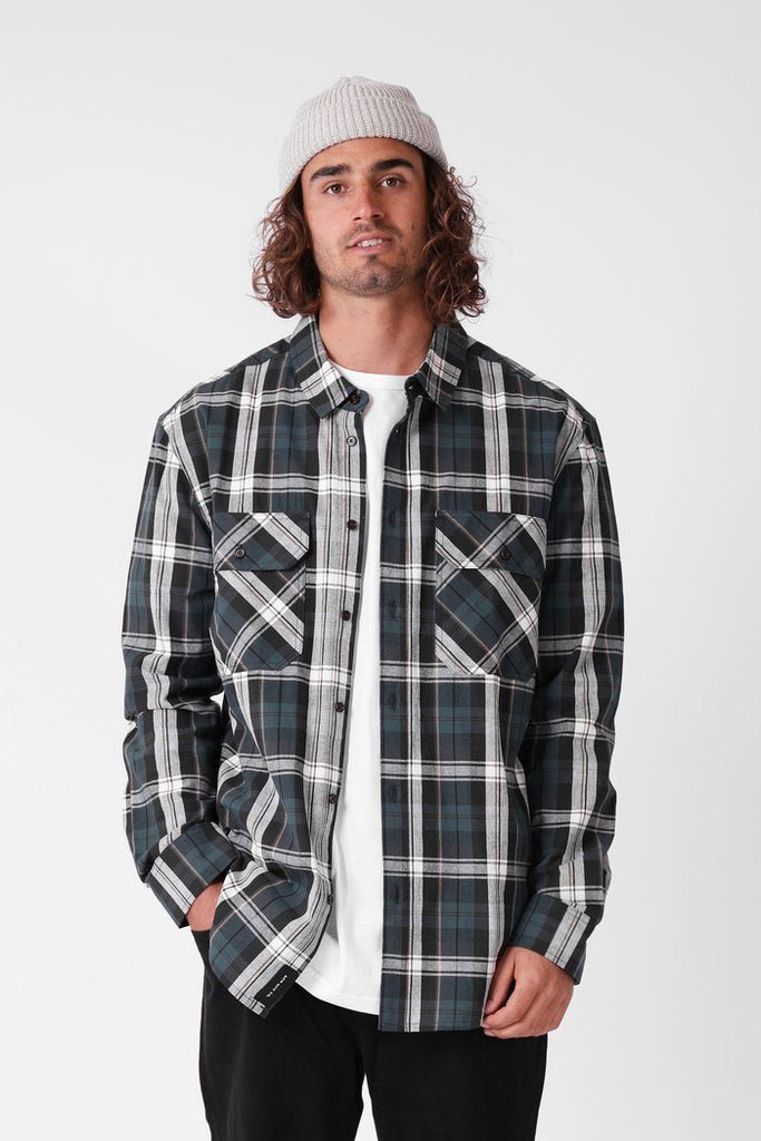 RPM Plaid Ls Shirt - BASE Streetwear Wanaka