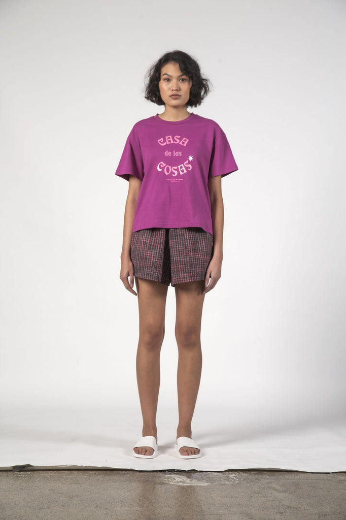 THING THING Cosa Tee Berry Cosa Front