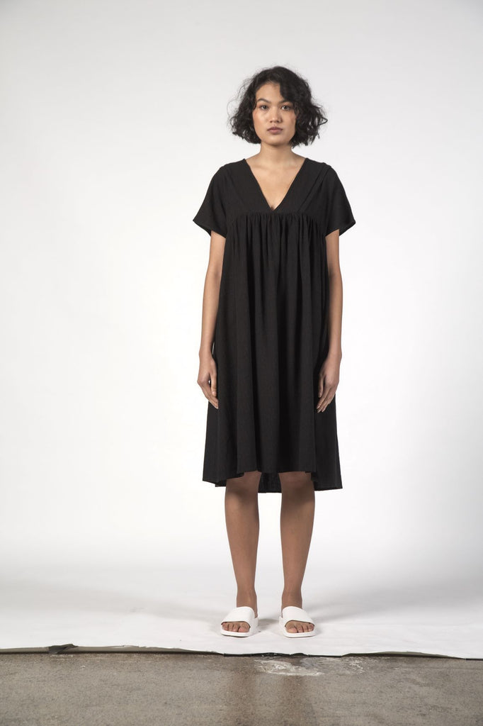 THINGTHING Elfie Dress Black Texture Front