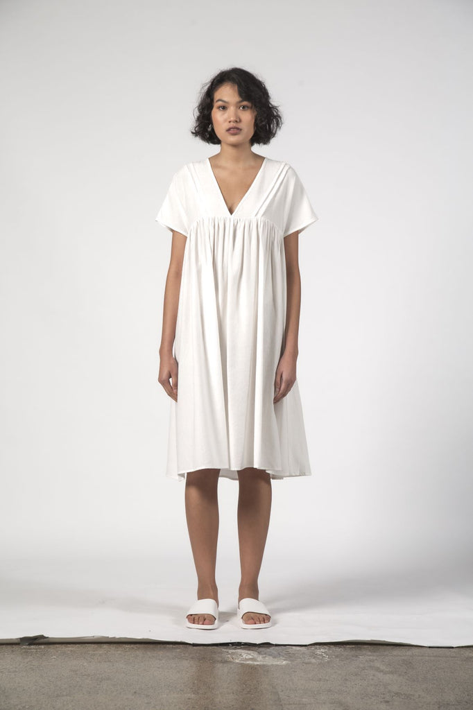 THINGTHING Elfie Dress White Texture Front