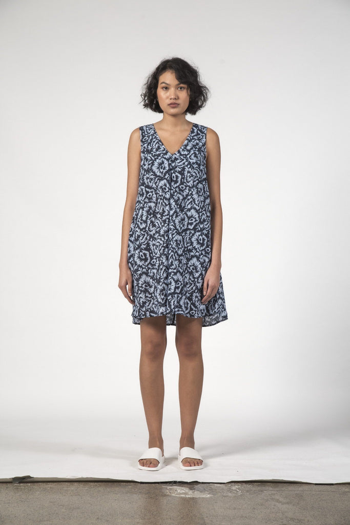 THINGTHING Estelle Dress Jagged Flower Front