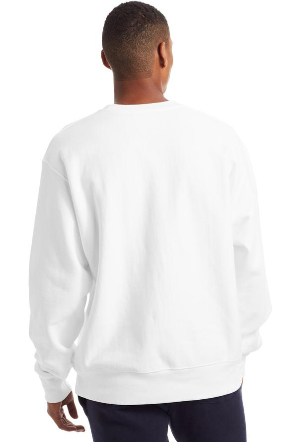 CHAMPION Reverse Weave Script Hood White Back