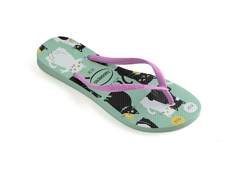 HAVAIANAS Kids Slim Pets Green Drew Single