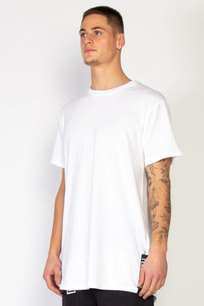 FEDERATION Blocks Look Tee White Front Angle