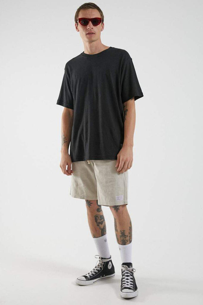 AFENDS Classic Hemp Tee Black Front Full