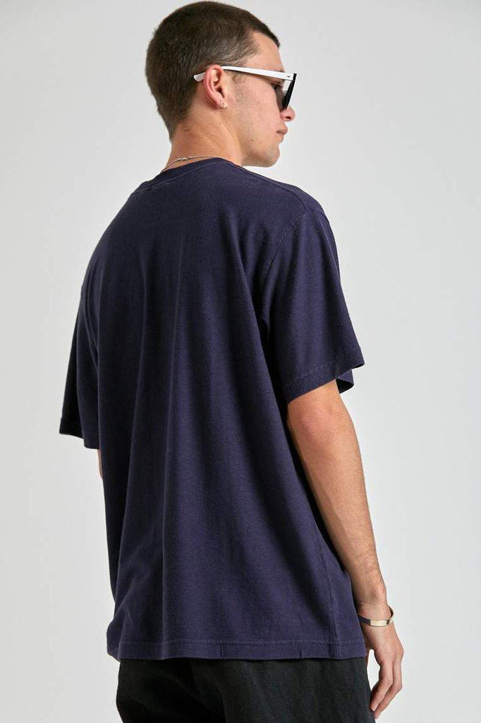 AFENDS Classic Hemp Retro Fit Tee Navy Back