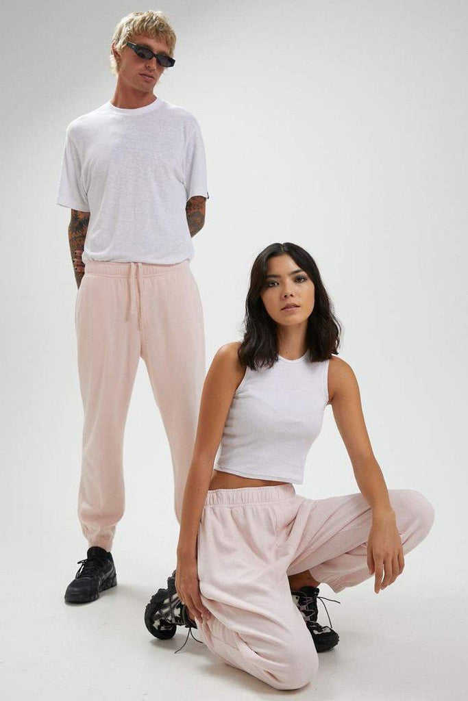 AFENDS Hemp Unisex Sweat Pant Ash Pink Unisex