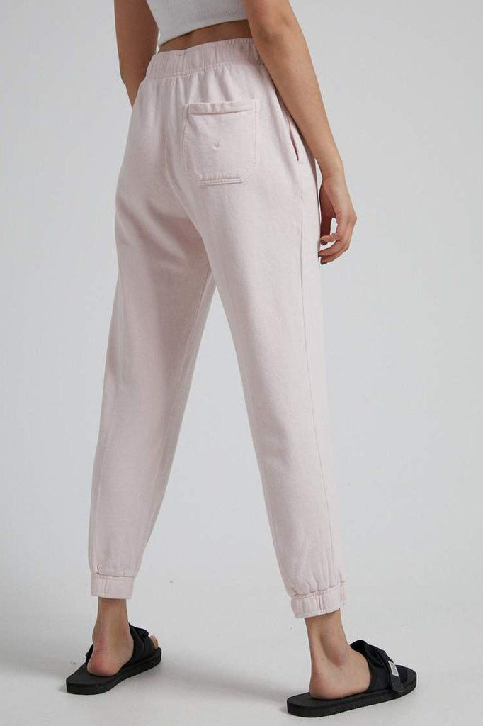 AFENDS Hemp Unisex Sweat Pant Ash Pink Back