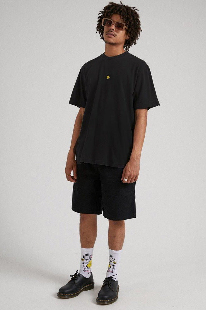 AFENDS Tito Flame Retro Tee Black Front Full