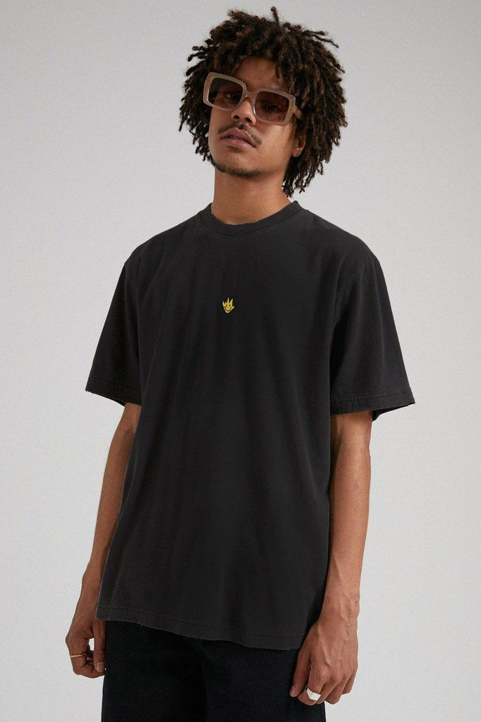 AFENDS Tito Flame Retro Tee Black front