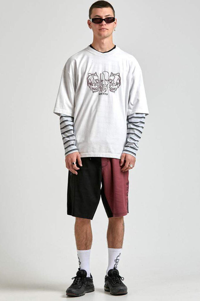 AFENDS Richmond Oversized Tee Blanc Front Full