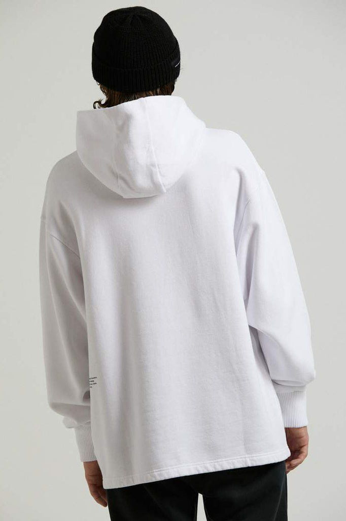 AFENDS Premium Organic Pull On Hood White Back