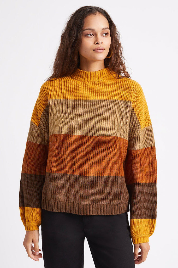 BRIXTON Madero Sweater Honey Gold Front