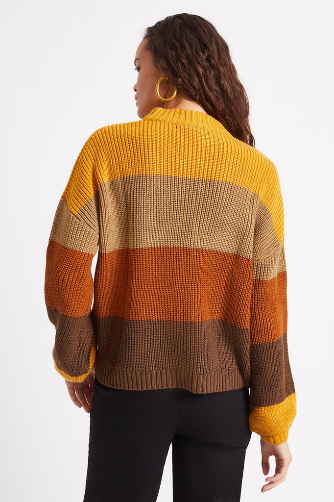 BRIXTON Madero Sweater Honey Gold Back