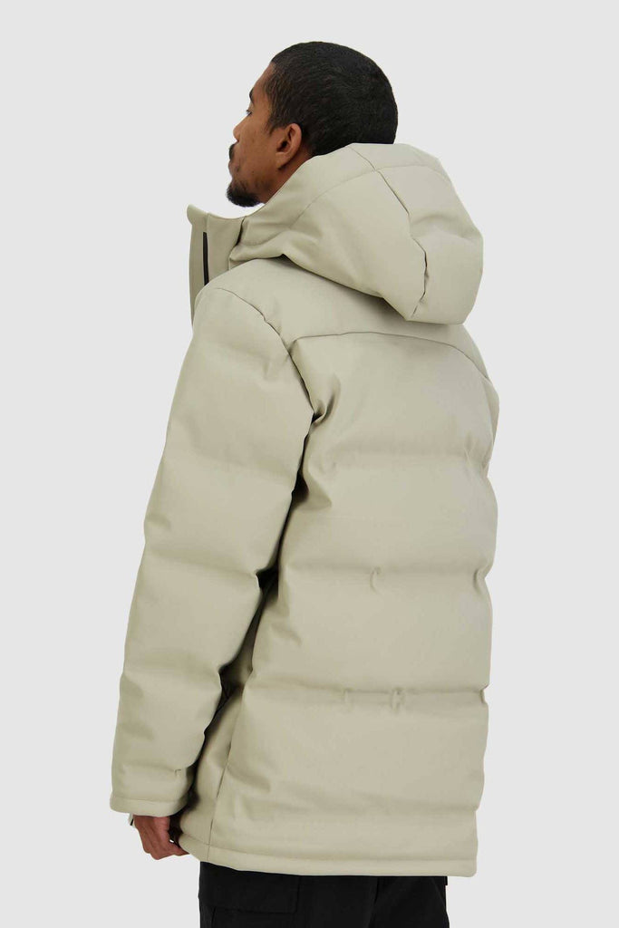 HUFFER Mens Oversize Superdown Jacket Sand Back