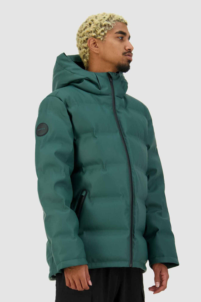 HUFFER Mens Superdown Jacket Emerald Side Angle