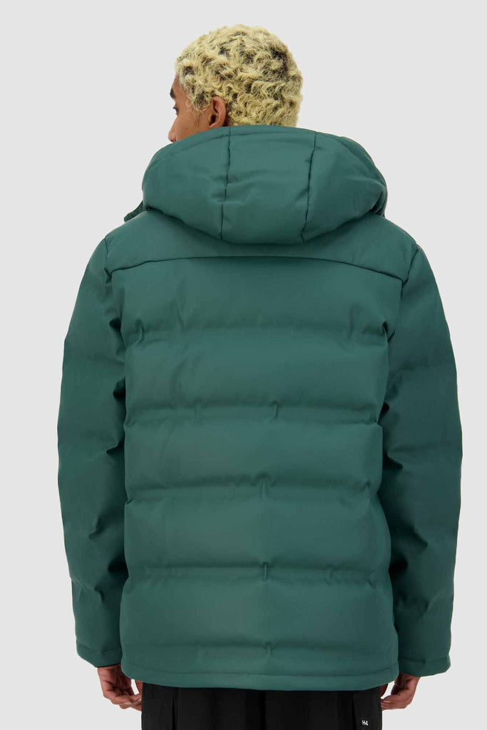 HUFFER Mens Superdown Jacket Emerald Back