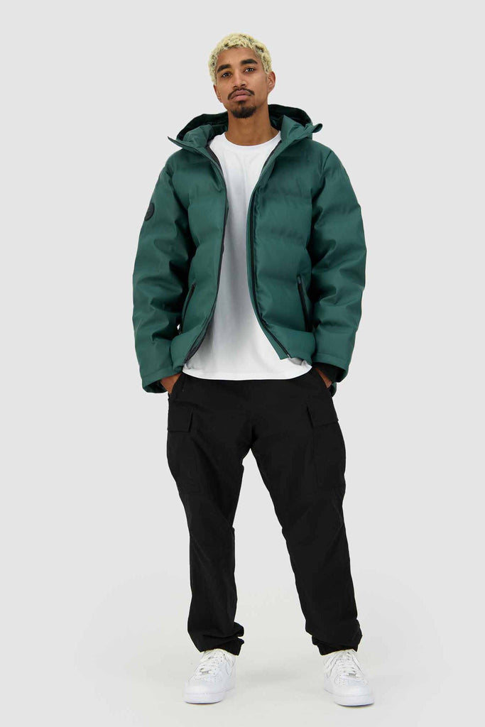 HUFFER Mens Superdown Jacket Emerald Full Open