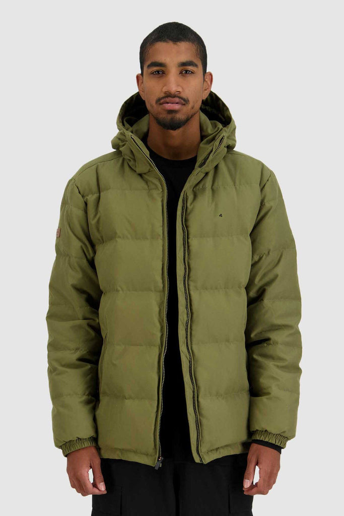 HUFFER Mens Classic Down Jacket Military Front