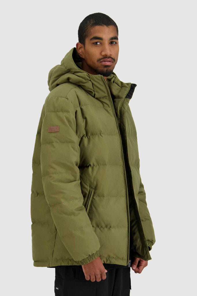 HUFFER Mens Classic Down Jacket Military Side