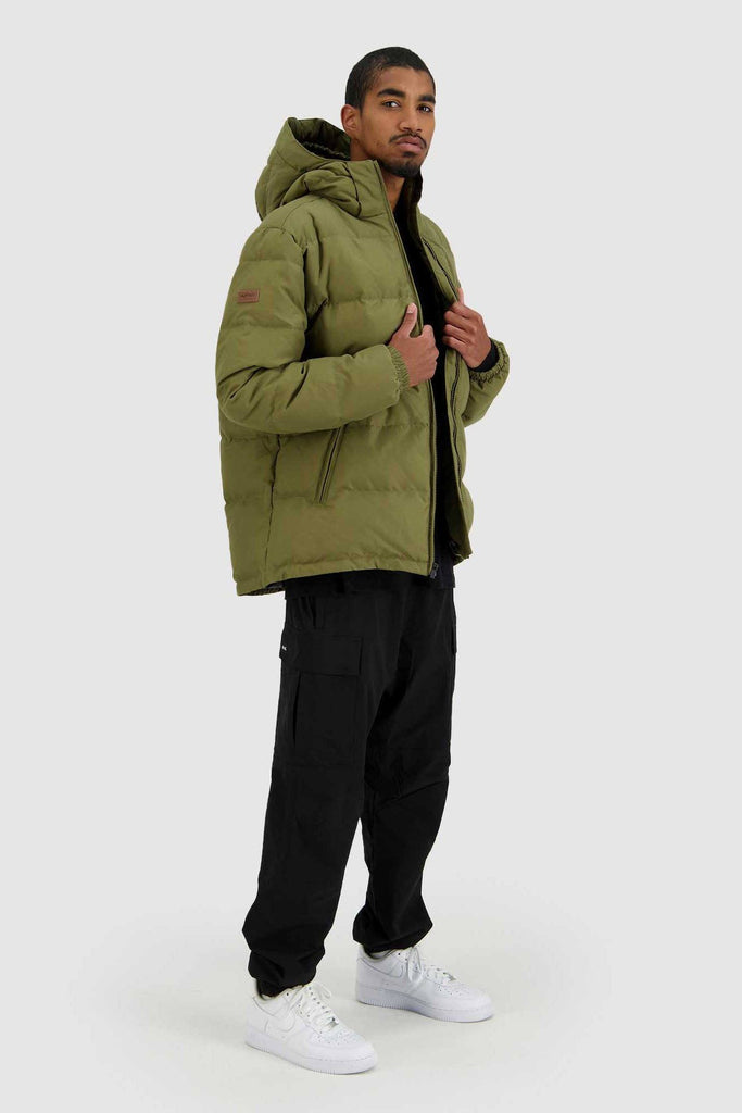 HUFFER Mens Classic Down Jacket Military Full