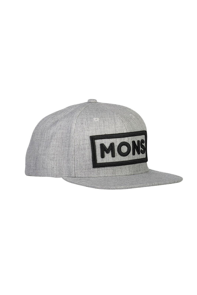 MONS ROYALE Unisex Wool Connor Cap Grey Marl Front Angle