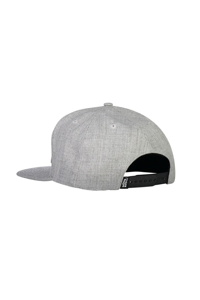 MONS ROYALE Unisex Wool Connor Cap Grey Marl Back Angle
