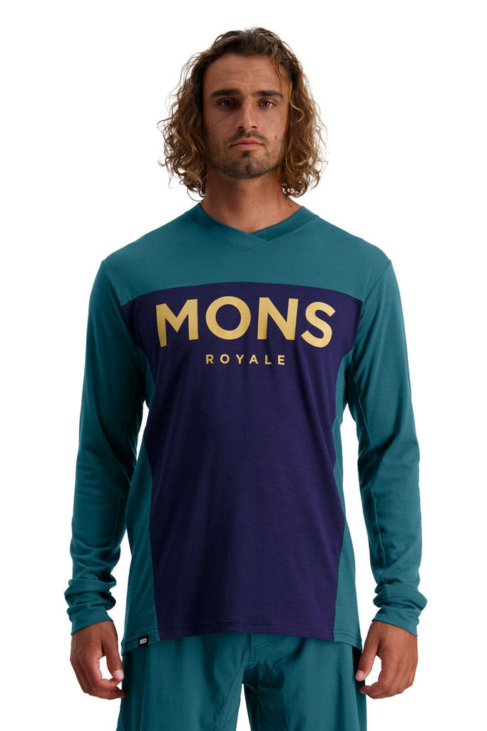 MONS ROYALE Mens Redwood Enduro Vls Deep Teal Navy front