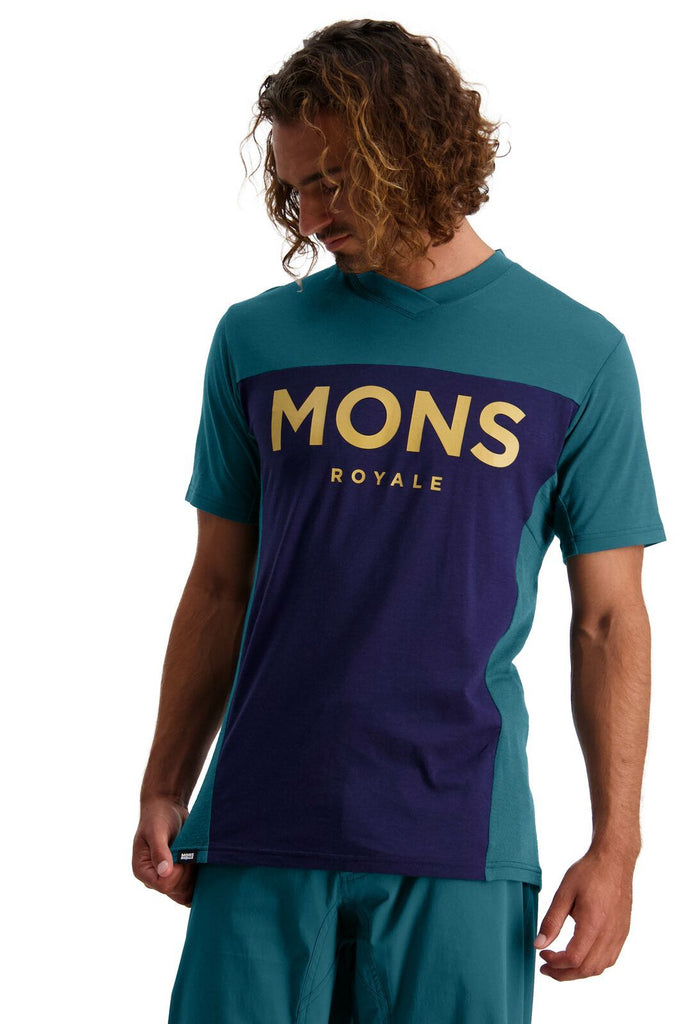 MONS ROYALE Mens Redwood Enduro Vt Deep Teal Navy Front