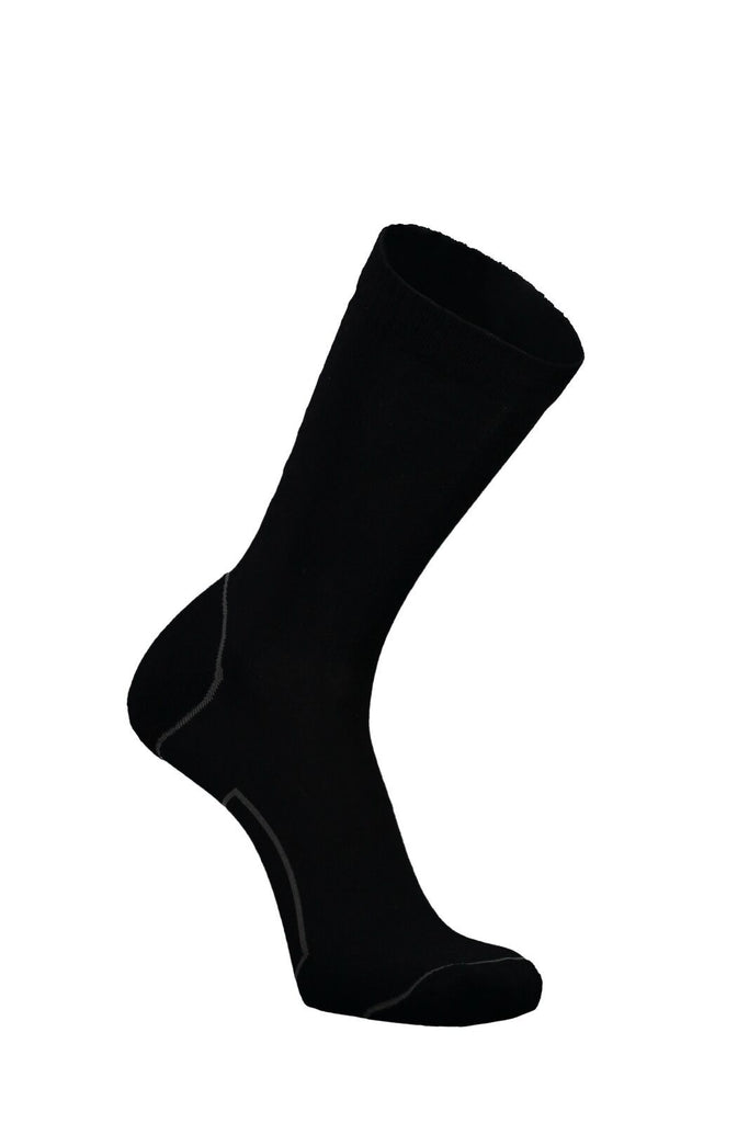 MONS ROYALE Mens Tech Bike Sock 2 0 Black Side View