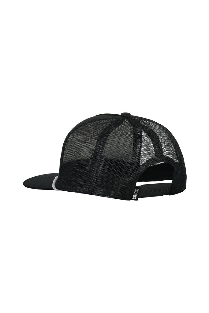 MONS ROYALE Unisex The Acl Trucker Cap Black Back Angle