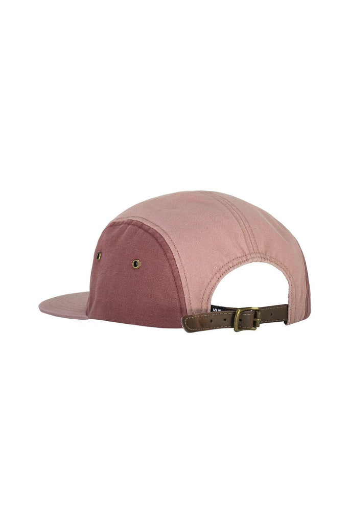 MONS ROYALE Unisex Beattie 5 Panel Cap Pink Clay back Angle