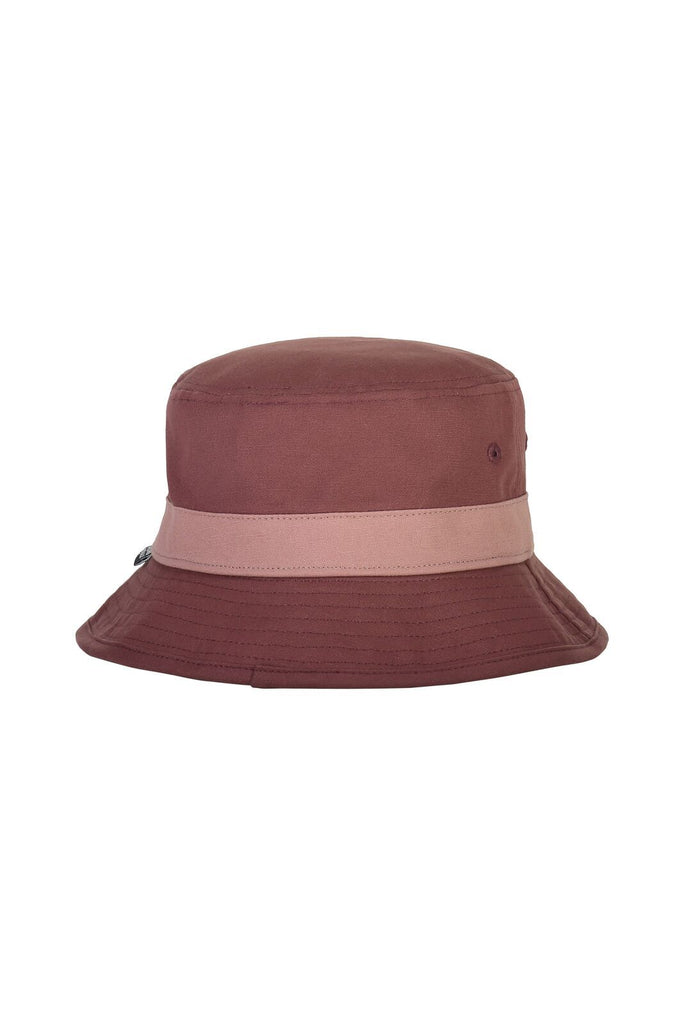 MONS ROYALE Unisex Beattie Bucket Hat Pink Clay back