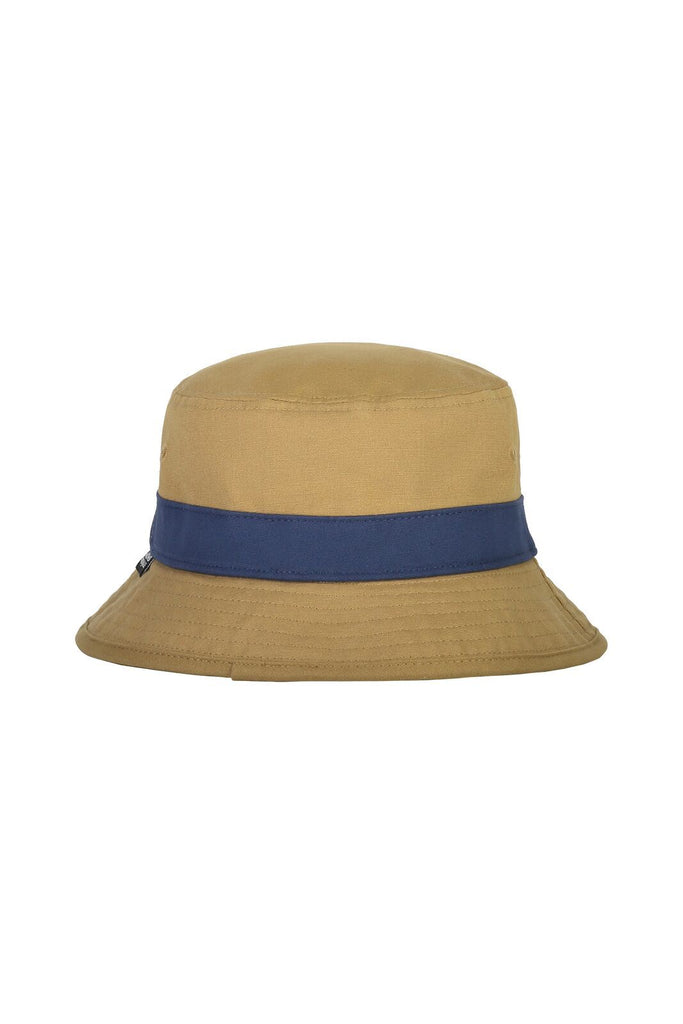 MONS ROYALE Unisex Beattie Bucket Hat Dark Denim Honey Back