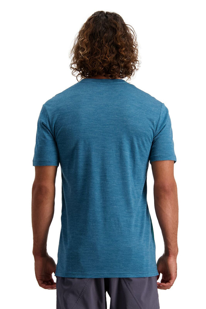 MONS ROYALE Mens Vapour T Deep Teal Back