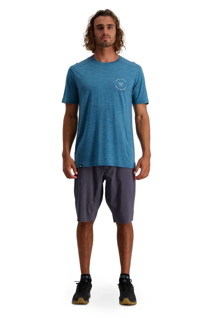 MONS ROYALE Mens Vapour T Deep Teal Front Full