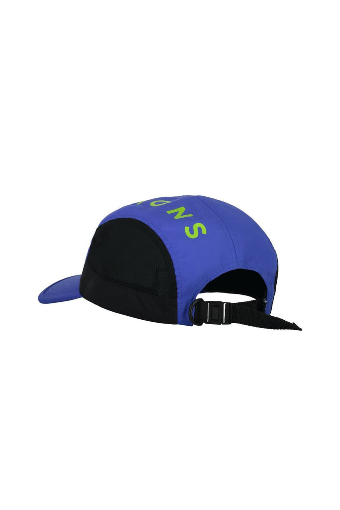 MONS ROYALE Unisex Voss Cap Ultra Blue Black BAck Angle