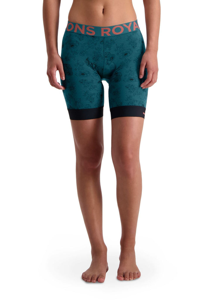 MONS ROYALE Womens Enduro Bike Short Liner Forest Alchemy Front