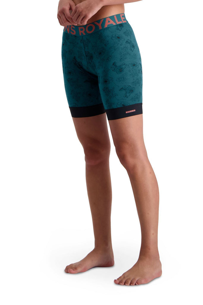 MONS ROYALE Womens Enduro Bike Short Liner Forest Alchemy Side Angle