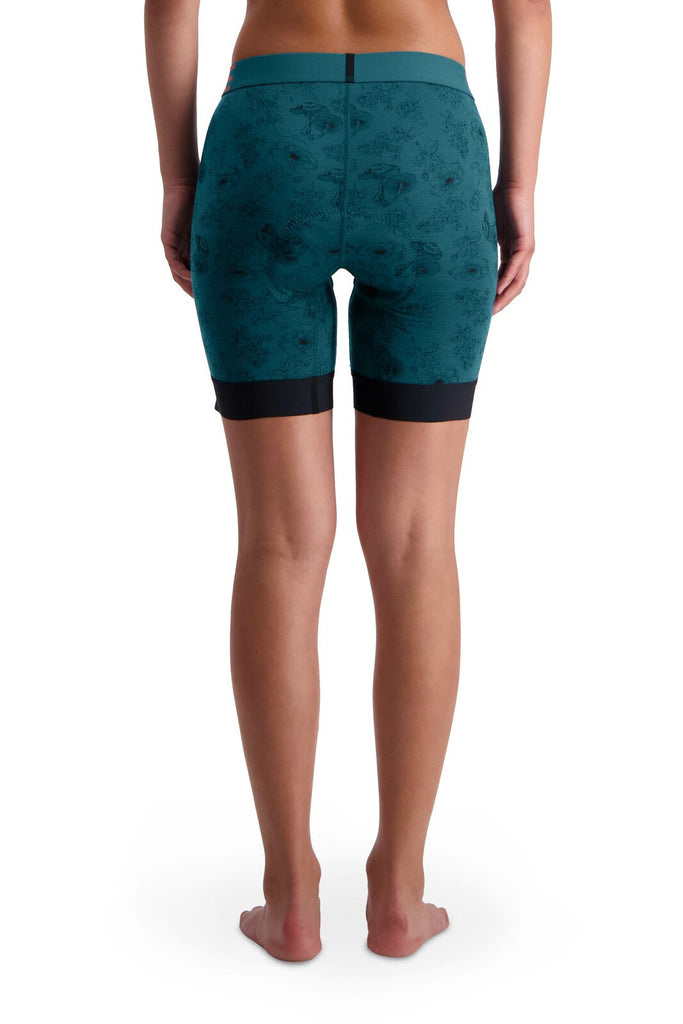 MONS ROYALE Womens Enduro Bike Short Liner Forest Alchemy Back