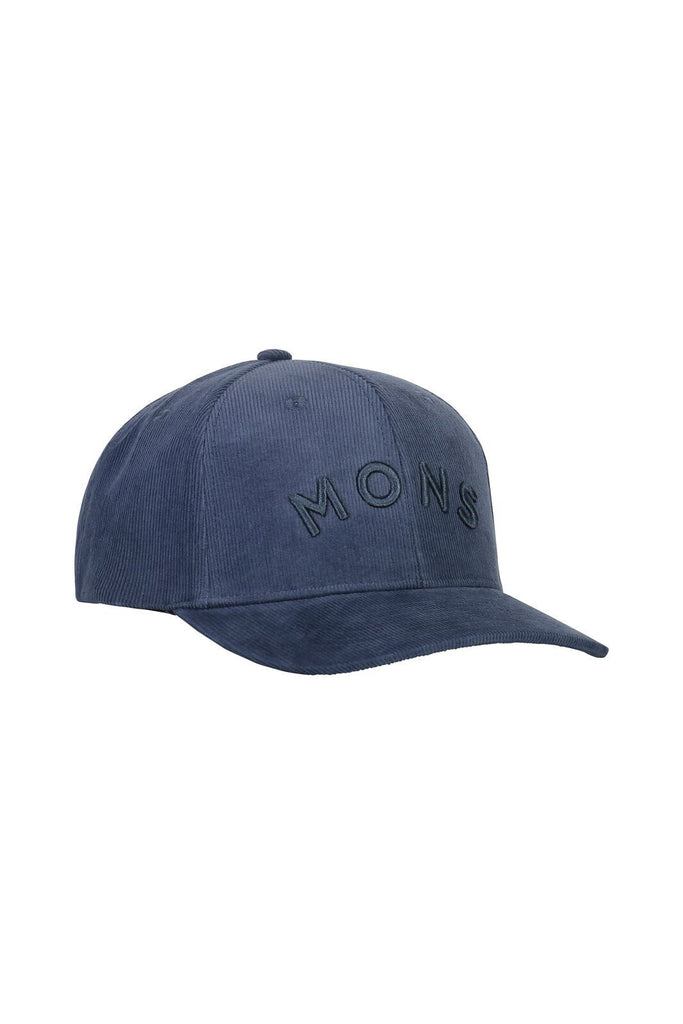 MONS ROYALE Unisex Bf Corduroy Ball Cap Dark Denim Front
