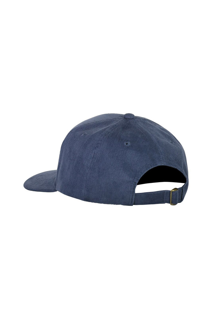 MONS ROYALE Unisex Bf Corduroy Ball Cap Dark Denim Back Angle