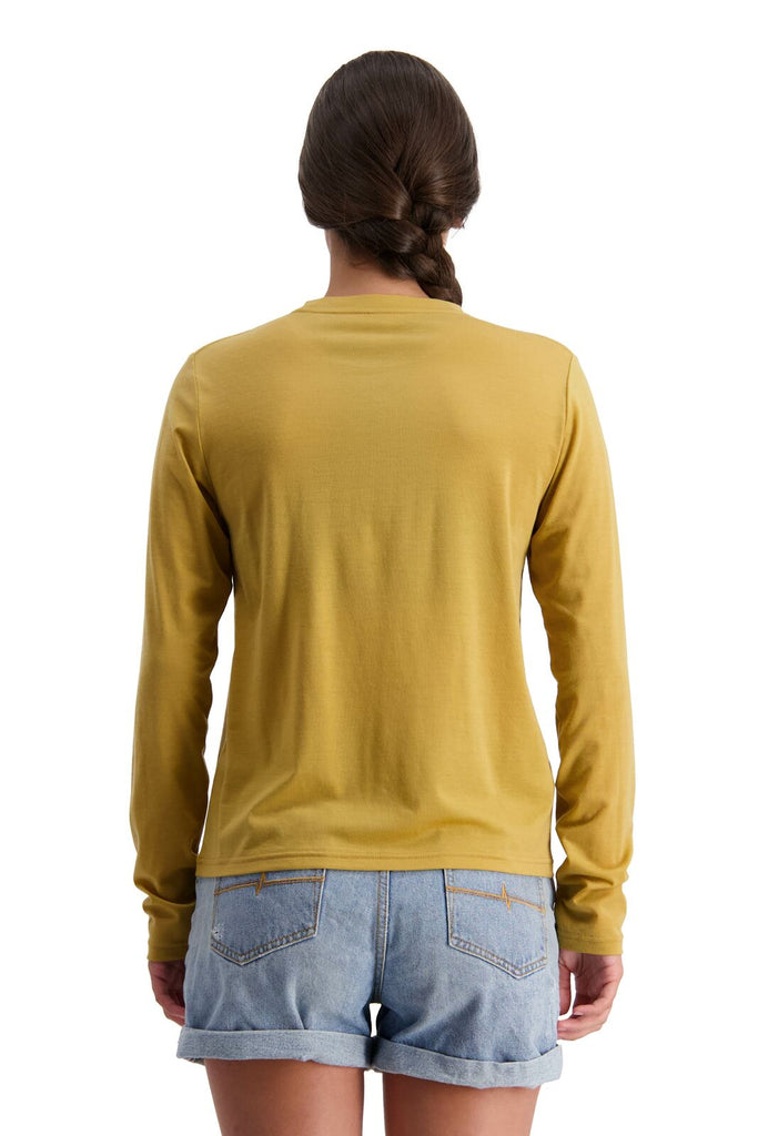 MONS ROYALE Womens Icon Relaxed Ls Honey Back