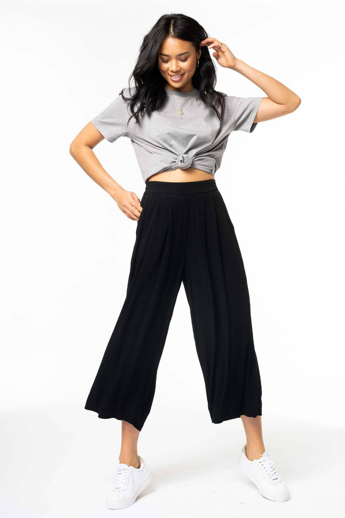 RUSTY Blair Flare Pant Black front Full