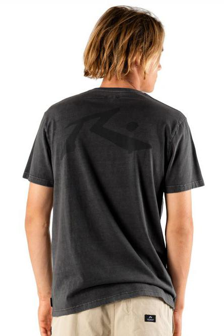 RUSTY Comp Wash Tee Washed Black Back
