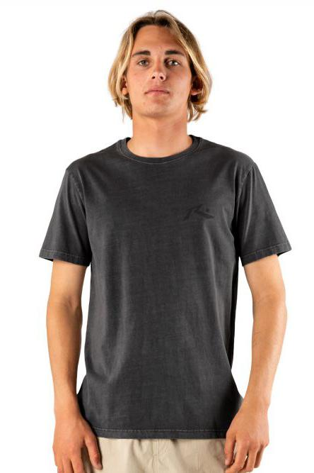 RUSTY Comp Wash Tee Washed Black front