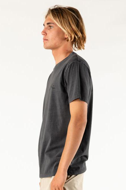 RUSTY Comp Wash Tee Washed Black Side