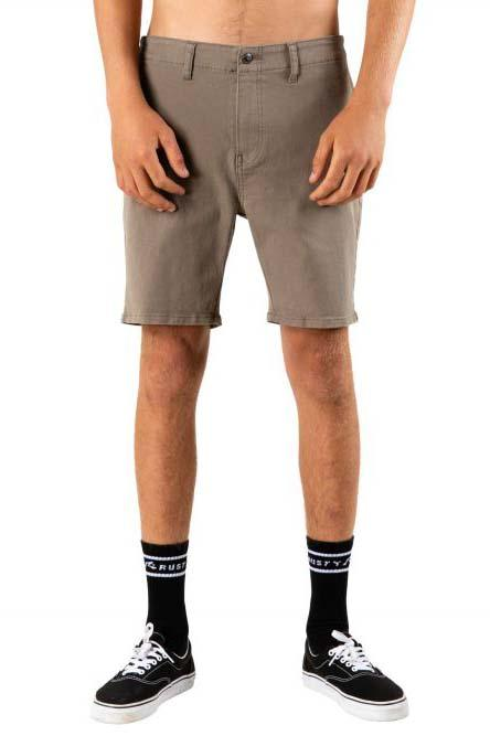 RUSTY The John Chino Short Faded Olive Front